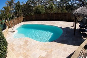 Pool renovation Woronora Heights, Sutherland shire, Travertine